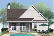 Craftsman Style House Plan - 3 Beds 2 Baths 1307 Sq/Ft Plan #929-318 Exterior - Rear Elevation