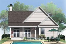 Craftsman Exterior - Rear Elevation Plan #929-318