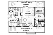 Country Style House Plan - 4 Beds 3 Baths 1673 Sq/Ft Plan #456-11 Floor Plan - Main Floor