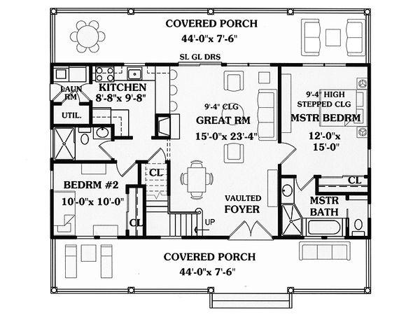 Country Floor Plan - Main Floor Plan Plan #456-11
