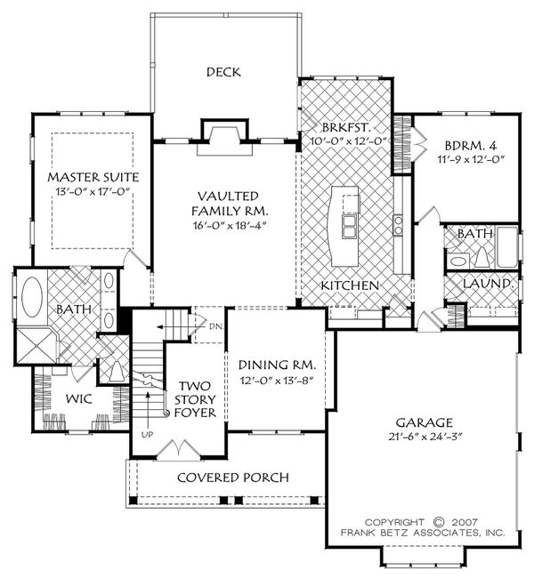 Cottage Floor Plan - Main Floor Plan Plan #927-14