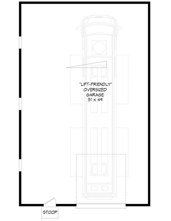 Contemporary Floor Plan - Main Floor Plan Plan #932-255