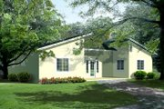 Contemporary Style House Plan - 2 Beds 2 Baths 1509 Sq/Ft Plan #1-287 Exterior - Front Elevation