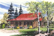 Log Style House Plan - 4 Beds 2 Baths 1280 Sq/Ft Plan #942-51 Exterior - Front Elevation