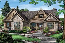 Dream House Plan - Craftsman Exterior - Front Elevation Plan #929-972