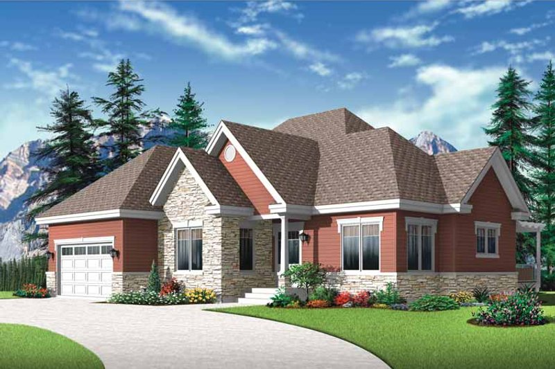 Country Exterior - Front Elevation Plan #23-2527 - Houseplans.com