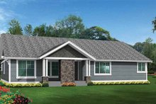 Craftsman Exterior - Rear Elevation Plan #132-539
