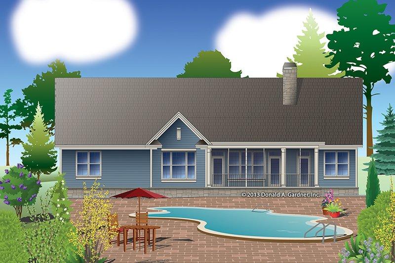 Craftsman Exterior - Rear Elevation Plan #929-978 - Houseplans.com