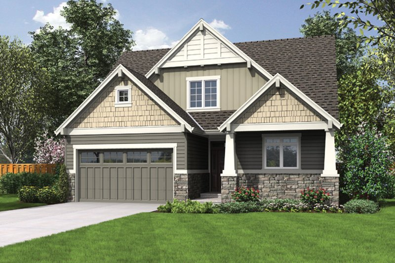 House Plan Design - Craftsman Exterior - Front Elevation Plan #48-900