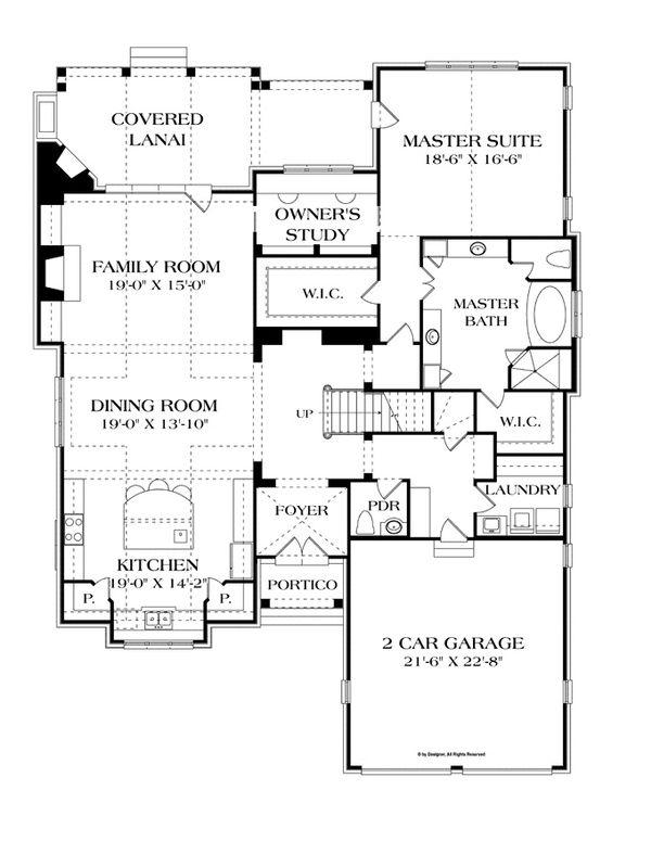 European Floor Plan - Main Floor Plan Plan #453-606