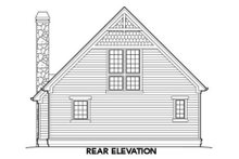 Home Plan - Rear View - 950 square foot Craftsman Cottage