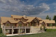 Craftsman Style House Plan - 4 Beds 5.5 Baths 6837 Sq/Ft Plan #923-179 Exterior - Rear Elevation