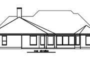 European Style House Plan - 3 Beds 3 Baths 2857 Sq/Ft Plan #411-476 Exterior - Rear Elevation