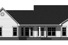 Home Plan - Ranch Exterior - Rear Elevation Plan #21-435