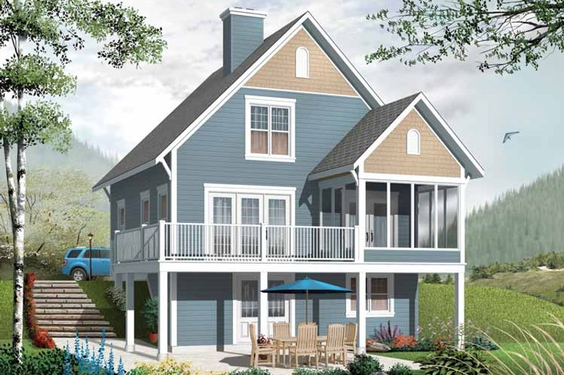 Dream House Plan - European Exterior - Front Elevation Plan #23-2486