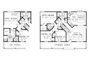 Craftsman Style House Plan - 3 Beds 2.5 Baths 1040 Sq/Ft Plan #456-9 Floor Plan - Main Floor