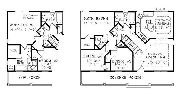 Craftsman Floor Plan - Main Floor Plan Plan #456-9