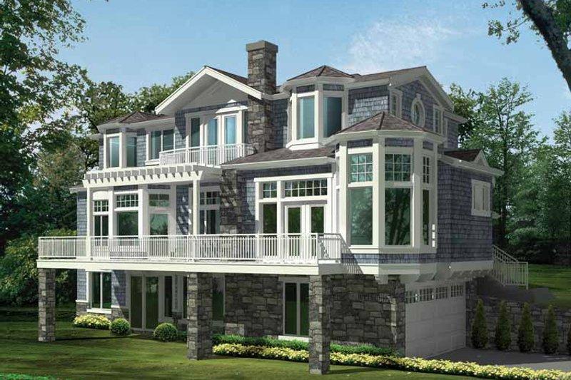 Craftsman Exterior - Front Elevation Plan #132-474 - Houseplans.com