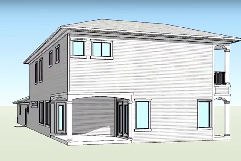 Country Exterior - Rear Elevation Plan #938-15 - Houseplans.com