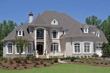 House Plan Design - European Exterior - Front Elevation Plan #54-283