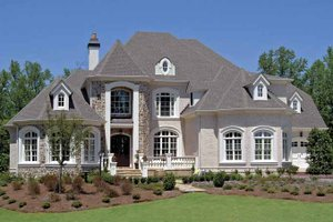 Dream House Plan - European Exterior - Front Elevation Plan #54-283