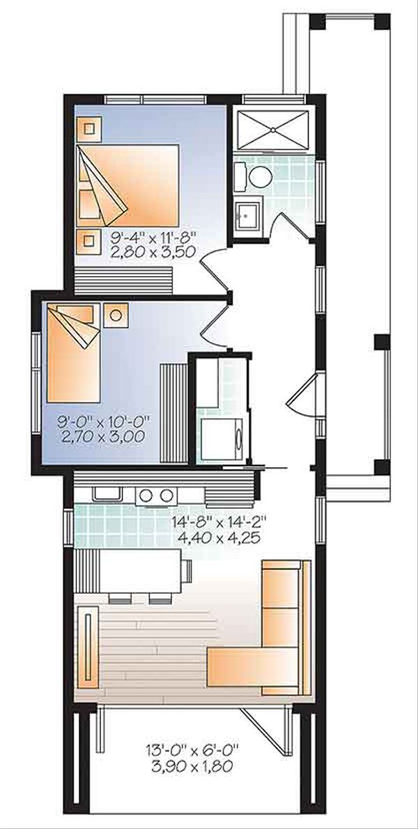 Contemporary Floor Plan - Main Floor Plan Plan #23-2602