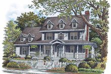 Country Exterior - Front Elevation Plan #929-737