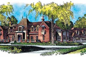 European Exterior - Front Elevation Plan #1016-59