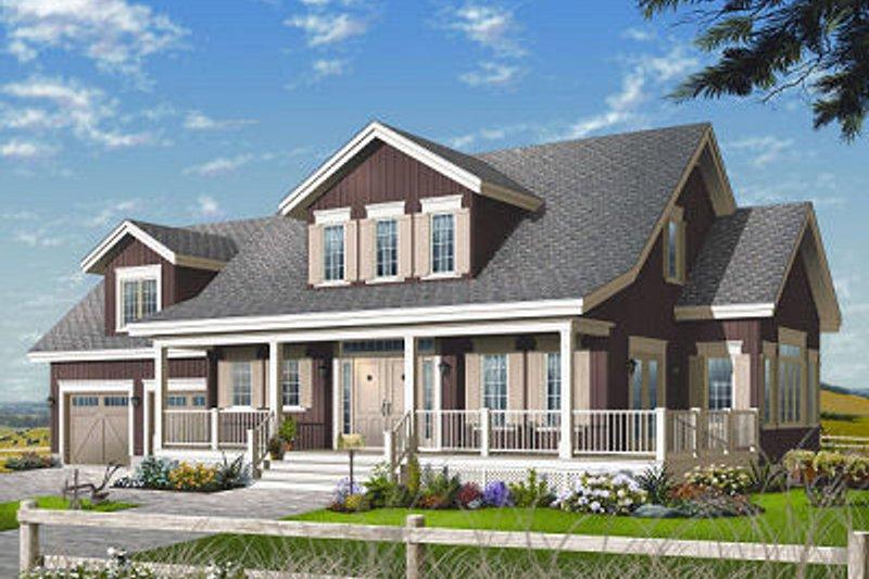 House Plan Design - Farmhouse Exterior - Front Elevation Plan #23-729