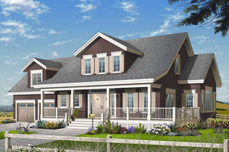 Dream House Plan - Farmhouse Exterior - Front Elevation Plan #23-729