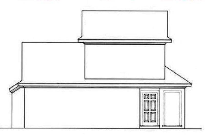 European Exterior - Rear Elevation Plan #45-104 - Houseplans.com