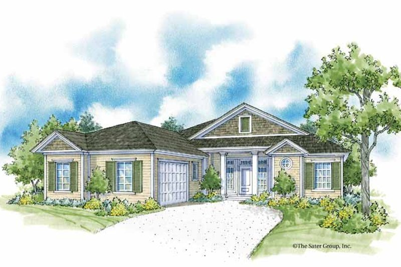 Country Exterior - Front Elevation Plan #930-366