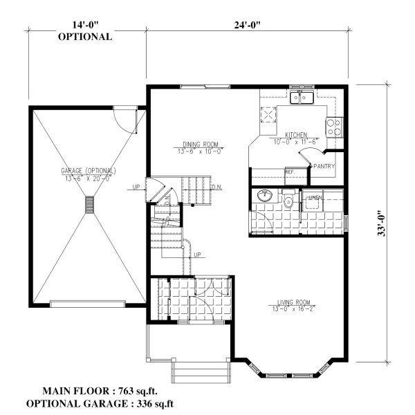 Victorian Floor Plan - Main Floor Plan Plan #138-351