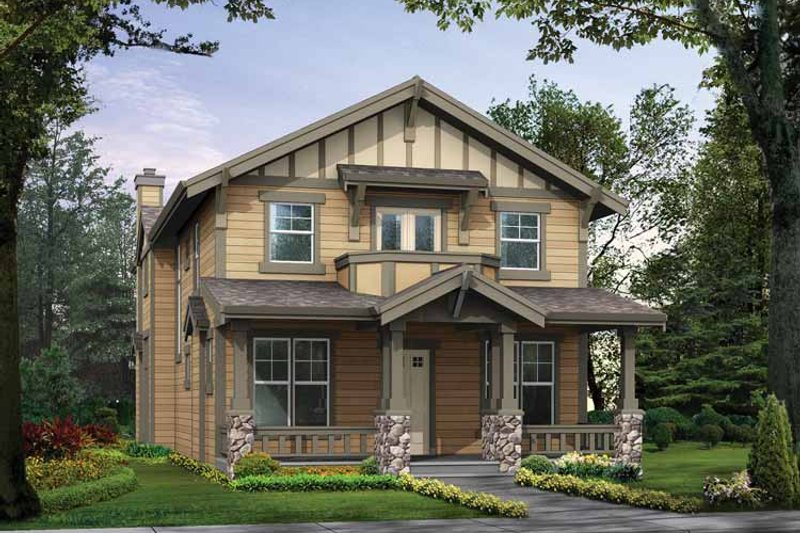 Craftsman Exterior - Front Elevation Plan #132-296