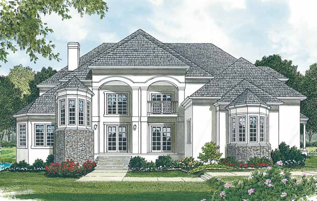 Mediterranean Exterior - Front Elevation Plan #453-148