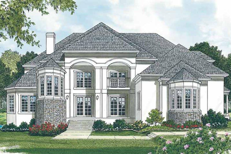 Dream House Plan - Mediterranean Exterior - Front Elevation Plan #453-148