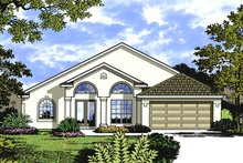 Architectural House Design - Mediterranean Exterior - Front Elevation Plan #417-841