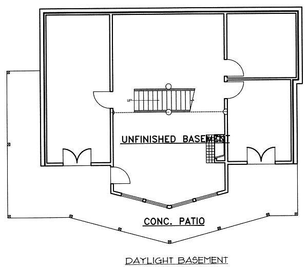Cabin Floor Plan - Lower Floor Plan #117-549