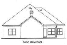 Home Plan Design - Southern Exterior - Rear Elevation Plan #45-126