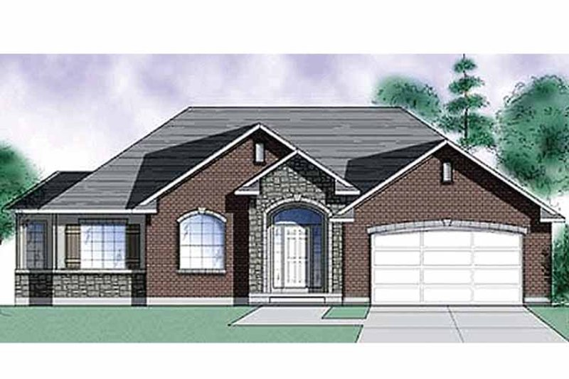 Traditional Exterior - Front Elevation Plan #945-8 - Houseplans.com