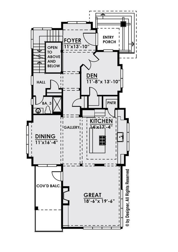 House Plan Design - Contemporary Floor Plan - Main Floor Plan #1066-33