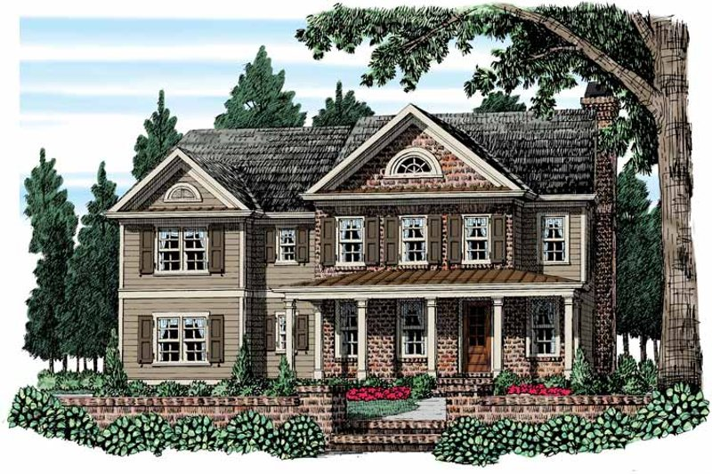 Country Exterior - Front Elevation Plan #927-952