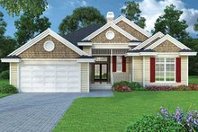 Ranch Exterior - Front Elevation Plan #417-800