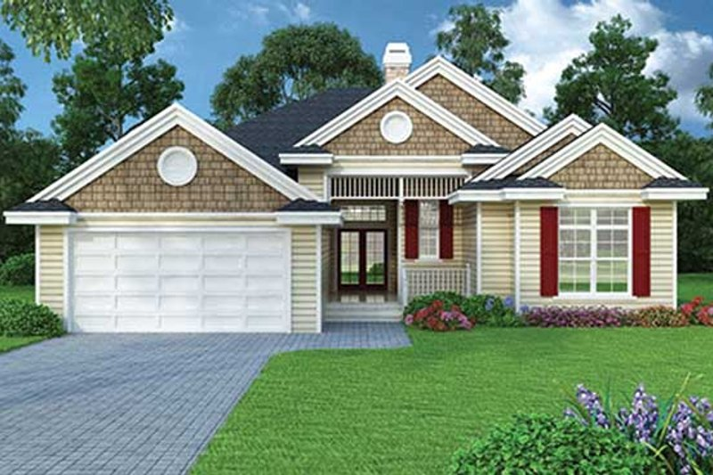 Architectural House Design - Ranch Exterior - Front Elevation Plan #417-800