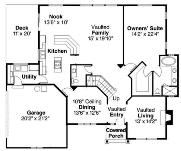 European Floor Plan - Main Floor Plan Plan #124-817