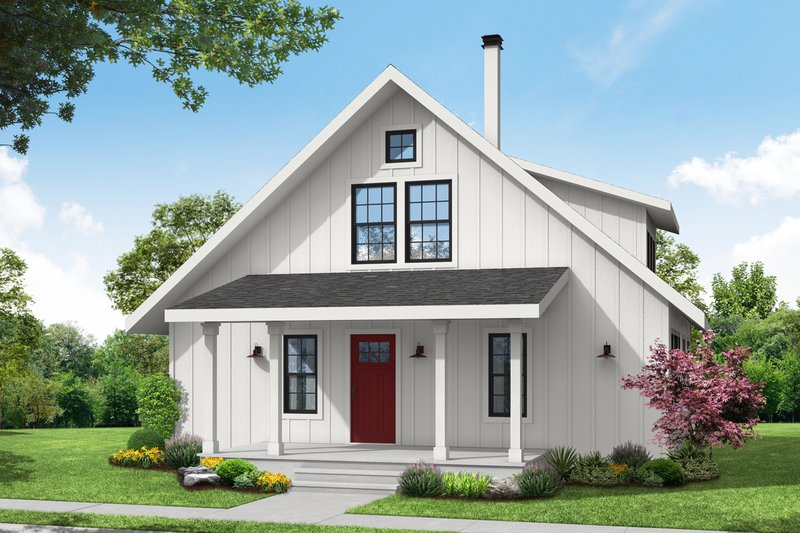 Home Plan - Cottage Exterior - Front Elevation Plan #124-1263