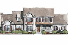House Plan Design - Colonial Exterior - Front Elevation Plan #429-179