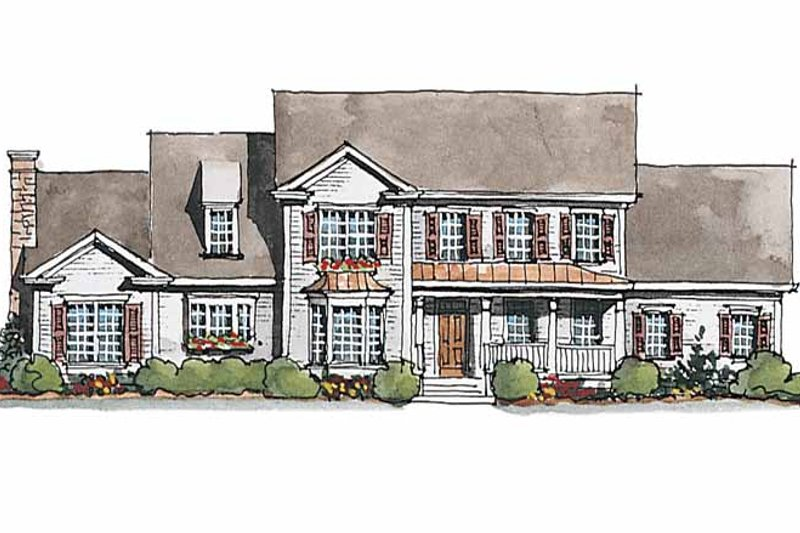 Colonial Exterior - Front Elevation Plan #429-179 - Houseplans.com