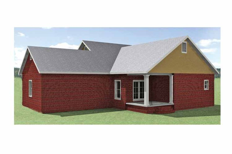 Country Exterior - Rear Elevation Plan #44-219 - Houseplans.com