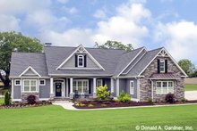 Dream House Plan - Craftsman Exterior - Front Elevation Plan #929-1025